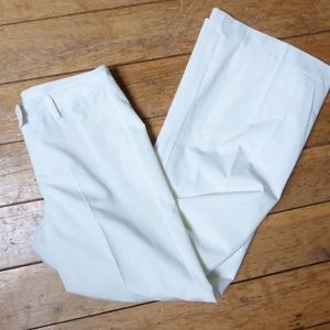 CAbi Off White Dove Pants Wide Flare Leg Size 6 St
